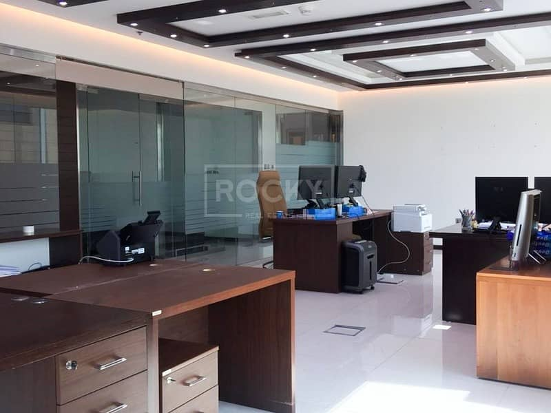 2 Fully Fitted | Office with Glass Partition | 5 Parking