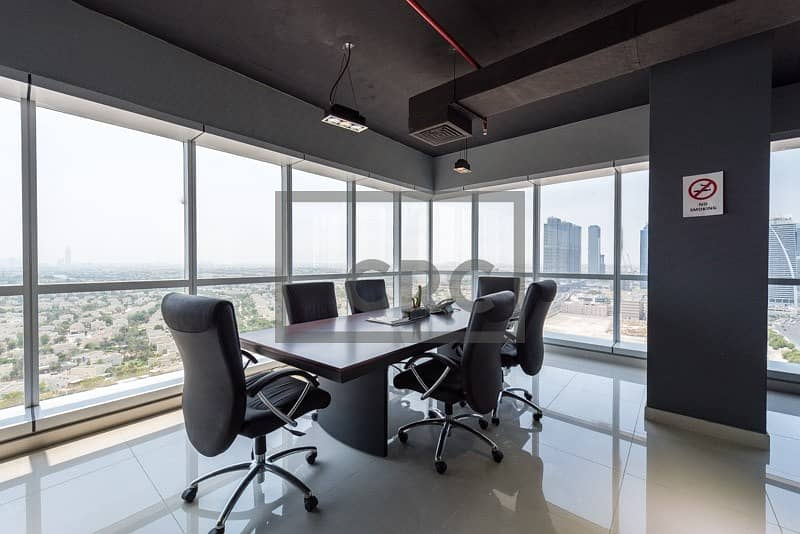 2 Fully fitted furnished office available for lease in JBC- 5 5