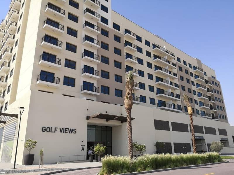 1 Month Free - Spacious Two Bedroom Apartment with Full Golf Course View, High Floor - Golf Views Tower B, Emaar South.