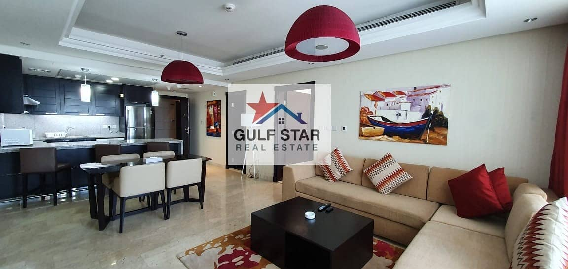 Fully Furnished 1 Bedroom with Huge Balcony