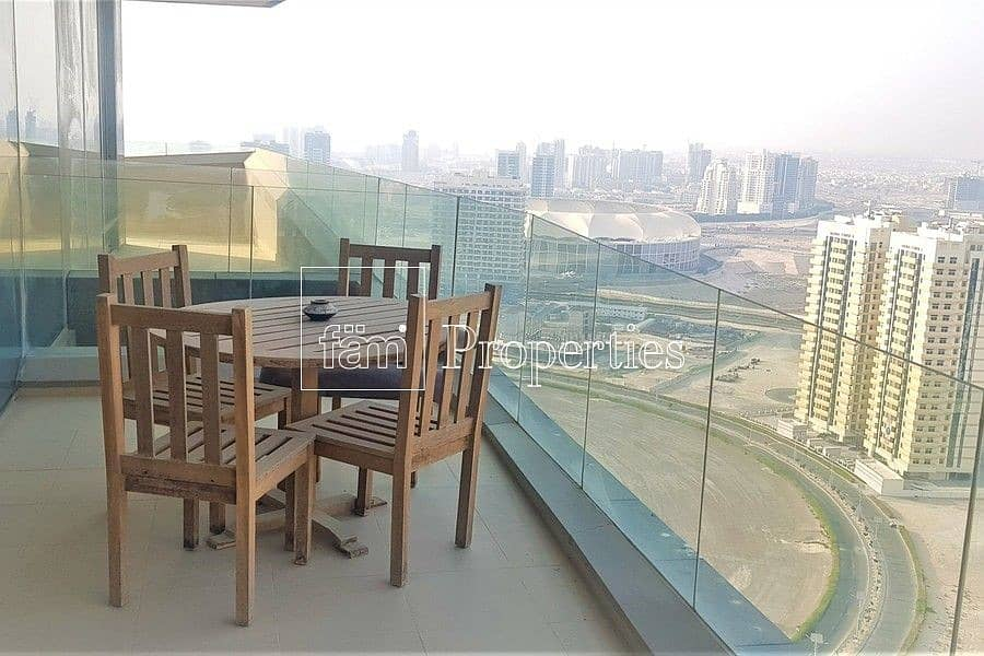 19 Furnished 2 BR | High Floor | Large Balcony