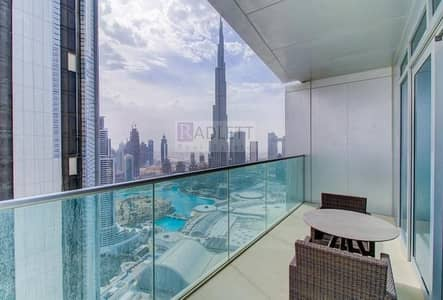 2 Bedroom Flat for Rent in Downtown Dubai, Dubai - Luxury at its Peak|Furnished and Burj View Apartment