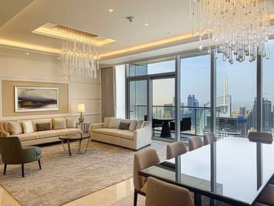 4 Bedroom Hotel Apartment for Rent in Downtown Dubai, Dubai - Exclusive Penthouse with Breathtaking Views