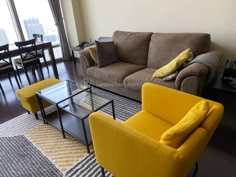 2 Biggest 1BR Furnished High Floor Fountains Views