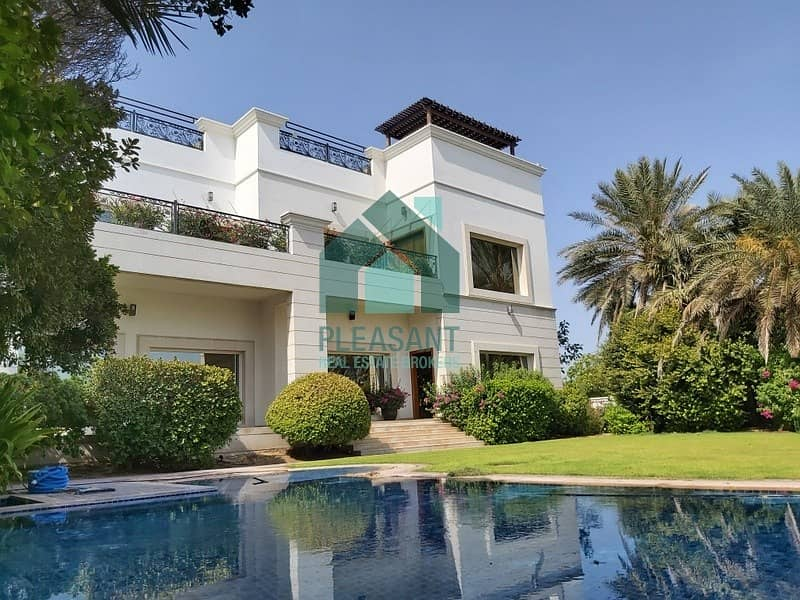 Full Lake View Villa For Rent In Emirates Hills