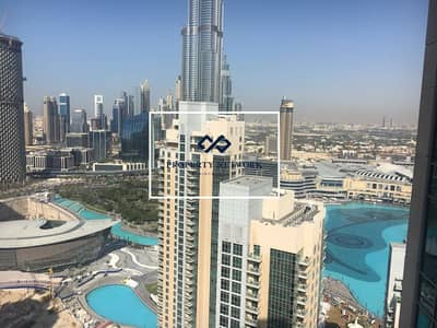1 Bedroom Flat for Rent in Downtown Dubai, Dubai - Burj Khalifa & Fountain View I High Floor