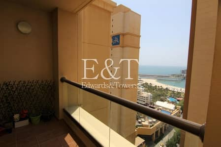 شقة 2 غرفة نوم للايجار في جميرا بيتش ريزيدنس، دبي - Partial Sea View   2 Bedrooms   Vacant   Furnished