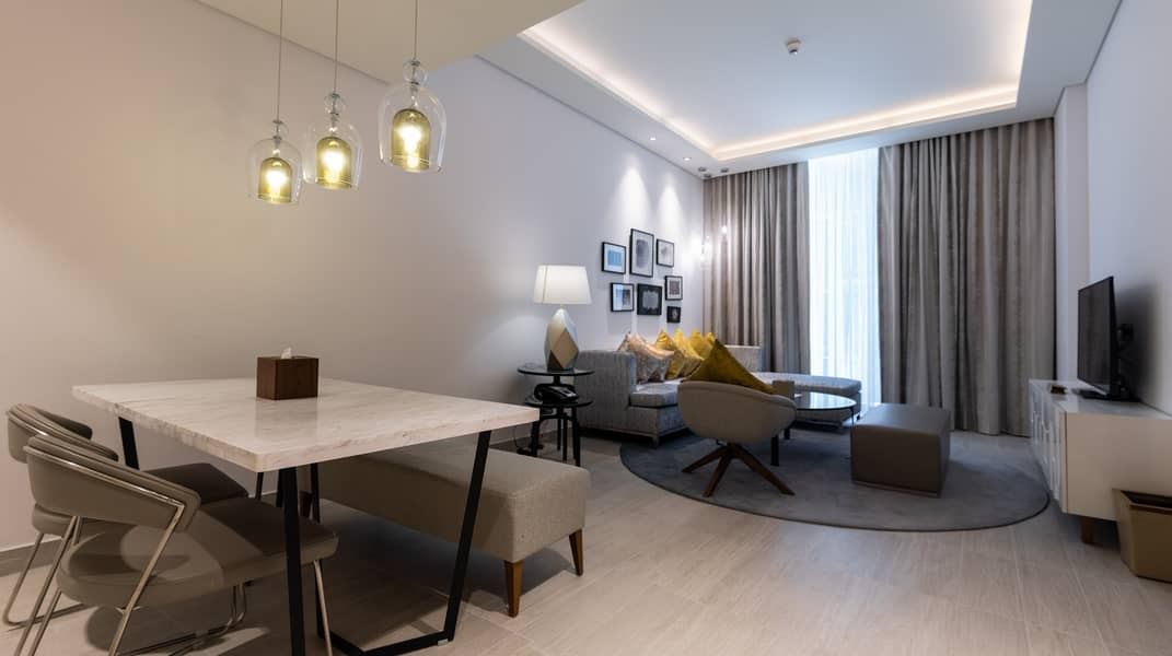 Newly Opened! Grand Mercure Hotel Apartments (One Bedroom  | Free WiFi  | near GGICO metro  | Free covered Parking)