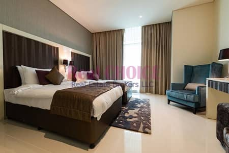 Hotel Apartment for Sale in Business Bay, Dubai - Exceptional Furnished Studio Apartment|Waterfont