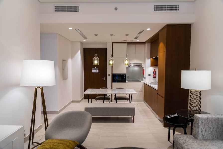 Newly Opened! Best two bedroom offer, Grand Mercure (walking distance to GGICO metro, Free WiFi, covered parking)