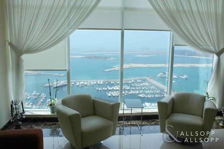 فلیٹ 3 غرف نوم للايجار في دبي مارينا، دبي - 3 Bedrooms | Semi-Furnished | Sea View