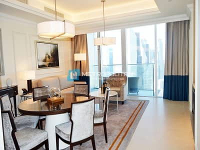 2 Bedroom Apartment for Rent in Downtown Dubai, Dubai - Luxury Furnished | All Inclusive | High Floor