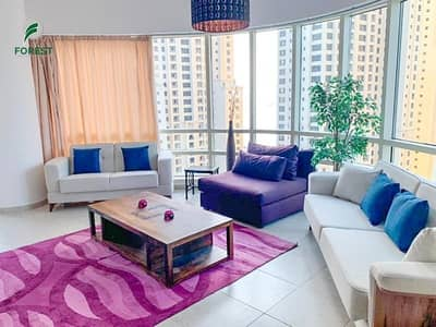 2 Bedroom Apartment for Rent in Dubai Marina, Dubai - High Floor | Fully Furnished | JBR and Marina View