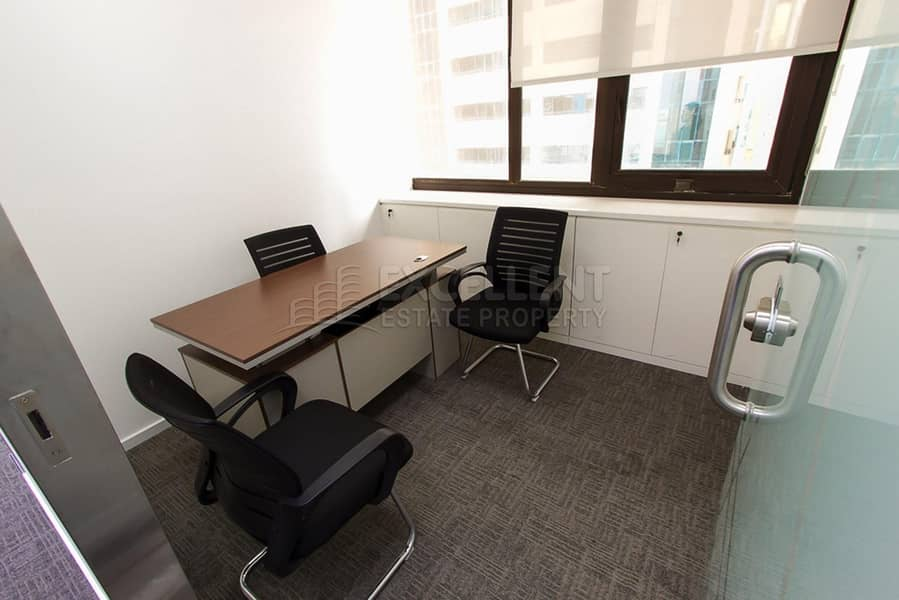 Affordable Semi Furnished Office Space / Short Term / For Tawtheeq Purpose