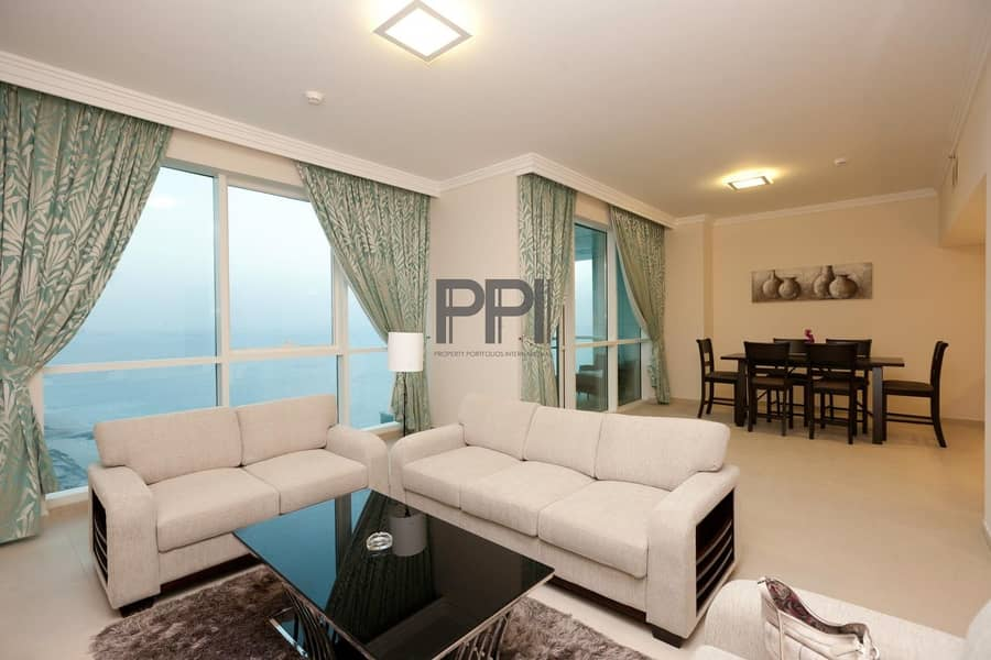 Fully Furnished with modern piece of equipment| dedicated beach Acces |Lake view