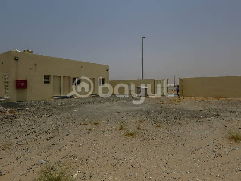 MIX USE LAND WITH 2 ROOMS AVAILABLE FOR RENT IN SAJAA AL HANOO