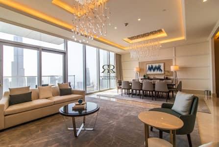 4 Bedroom Flat for Rent in Downtown Dubai, Dubai - With 360 Video Tour Breathtaking Burj Khalifa View