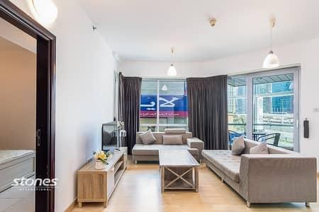 فلیٹ 1 غرفة نوم للايجار في دبي مارينا، دبي - Classic Furnished with Wide Panoramic Views
