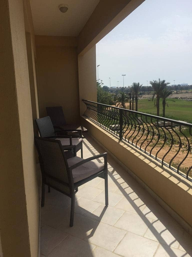 New listing for rent furnished 1 bedroom golf course view flat, available 1st september