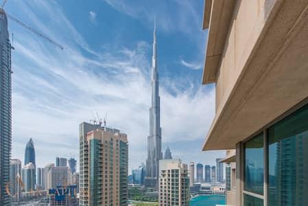 شقة 2 غرفة نوم للايجار في وسط مدينة دبي، دبي - Partial Fountain & Burj Khalifa View | Hot Deal