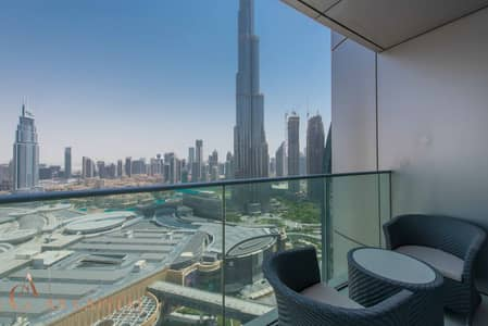 2 Bedroom Flat for Rent in Downtown Dubai, Dubai - Burj Khalifa View | Fully Furnished | High-end