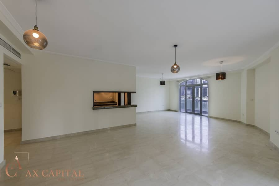2 Marina View | Spacious Living Room | Balcony
