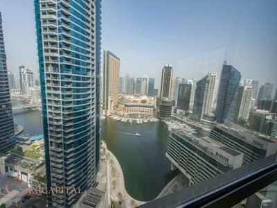 شقة 1 غرفة نوم للايجار في جميرا بيتش ريزيدنس، دبي - Marina View | High Floor | Vacant Now