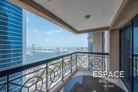 فلیٹ 3 غرف نوم للبيع في دبي مارينا، دبي - High Floor | VOT | 03 Type | Sea Views