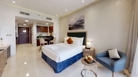 Studio for Rent in Bur Dubai, Dubai - Full Furnished Studio Apartment with Housekeeping Service