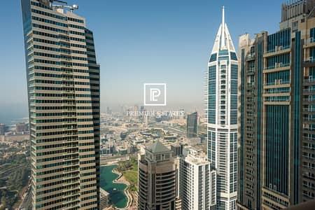 فلیٹ 4 غرف نوم للبيع في دبي مارينا، دبي - Fullly Furnished|Sea and Palm View|High Floor|4BHK