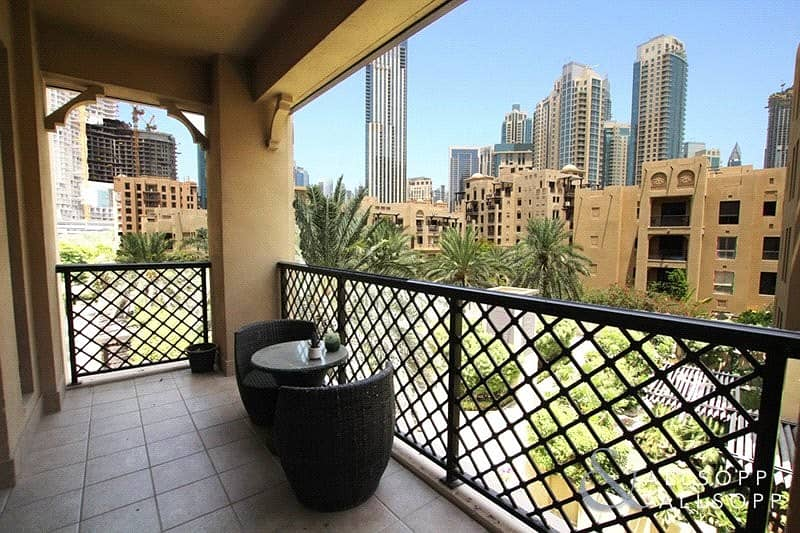 1 Bed | Partial Burj View and Pool View