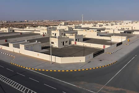 ارض تجارية  للايجار في السجع، الشارقة - 1 Year Free  Offer  - Direct From the Owner - Brand New Open Yard with Office -