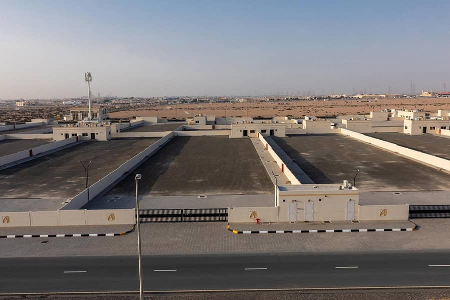 25 Rent @ 9 AED/sq.ft  - Open Yard with 2 Offices