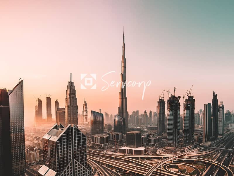 10 Private Offices with  Burj Khalifa views in Downtown
