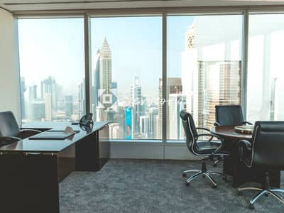 Office for Rent in Sheikh Zayed Road, Dubai - Fully fitted private office in Emirates Towers