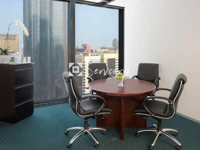 مکتب  للايجار في منطقة الكورنيش، أبوظبي - Fully fitted luxurious private office in World Trade Center Abu Dhabi