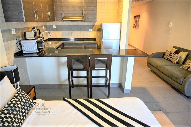 Fully furnished Executive Plus Studio  with storage in The Bridge