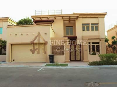 فیلا 5 غرف نوم للبيع في حدائق الجولف في الراحة، أبوظبي - Luxurious and Lush Green Villa W Privet Pool