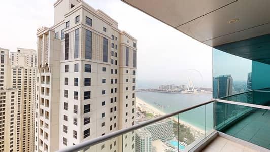 شقة 2 غرفة نوم للايجار في جميرا بيتش ريزيدنس، دبي - Ain Dubai & sea views | Kitchen appliances | Rent online