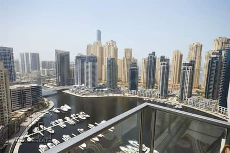 2 Bedroom Apartment for Rent in Dubai Marina, Dubai - Full Marina View   High Floor   Large Layout