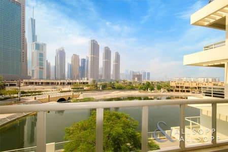 3 Bedroom Villa for Sale in Jumeirah Heights, Dubai - Lake And Skyline View   Three Bed Duplex