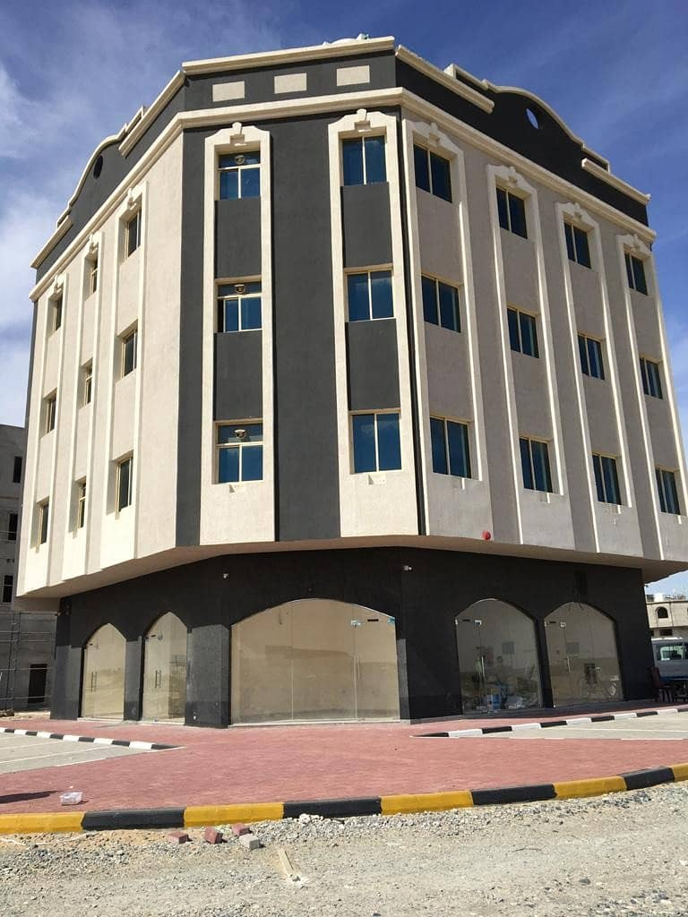 Apartments and shops for rent, very close to Sheikh Mohammed bin Zayed Street, at an excellent price