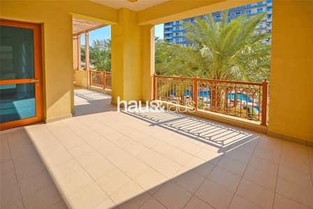 شقة 2 غرفة نوم للايجار في نخلة جميرا، دبي - Extended Terrace   Available Now   Sea View