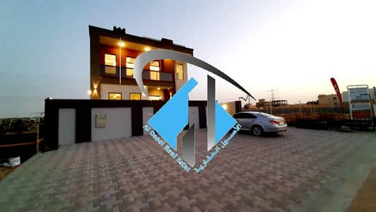 5 Bedroom Villa for Sale in Al Yasmeen, Ajman - Villa for sale stone interface finishes Super Deluxe freehold for all nationalities