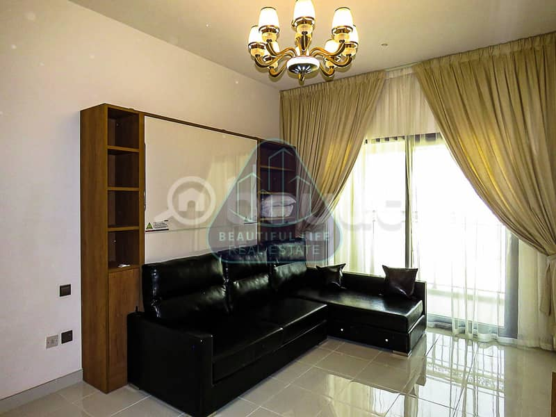 Fully Furnished   Chiller Free  Studio Apartment  with  Balcony