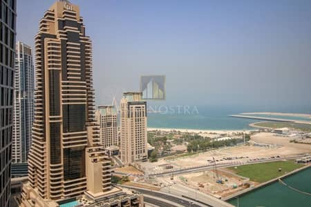 فلیٹ 3 غرف نوم للبيع في دبي مارينا، دبي - Full sea and Palm view High End 3BR Vacant Balcony