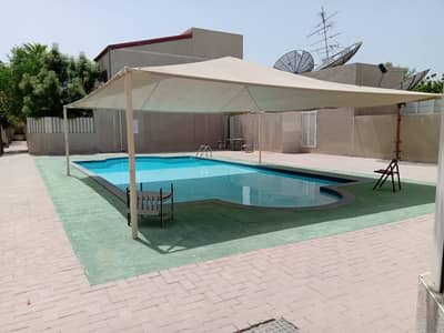 3 Bedroom Villa for Rent in Al Nuaimiya, Ajman - 3 BHK English Villa | Swimming Pool | Central AC | Maid Room