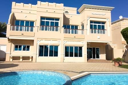 فیلا 5 غرف نوم للايجار في قرية مارينا، أبوظبي - Captivating Sea Facing 5 BR Villa In Royal Marina Villas