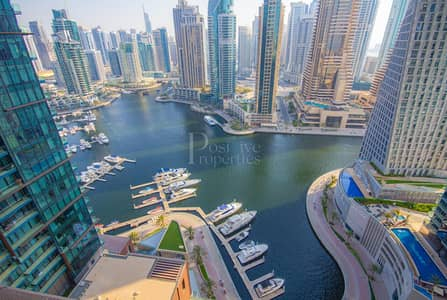 1 Bedroom Apartment for Rent in Dubai Marina, Dubai - Bills included | Full Marina View | Type 1G |High floor