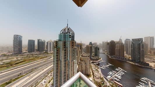 فلیٹ 3 غرف نوم للايجار في دبي مارينا، دبي - Marina views | Walk-in closet | Kitchen appliances included